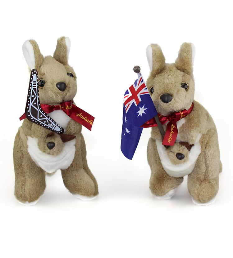 Medium Kangaroo Plush Toy 19cm | Australia the Gift ...
