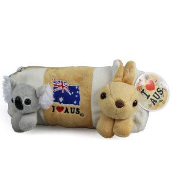 Plush Koala & Kangaroo Pencil Case