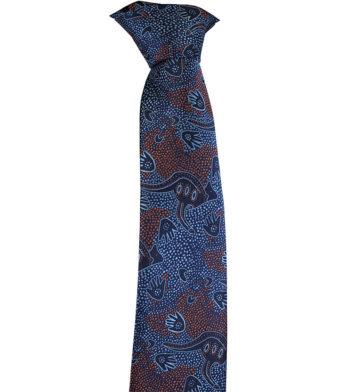Souvenir Aboriginal tie blue