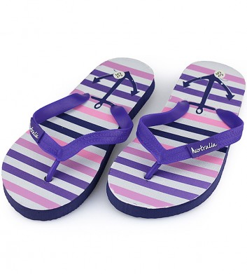 Purple Stripe Thongs