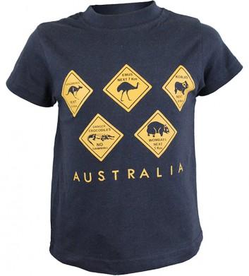 Kids Australian Roadsign T-Shirt