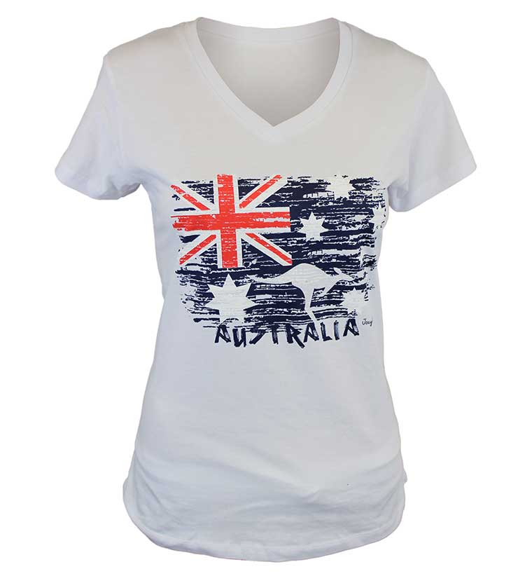 Australian Flag & Kangaroo Crop