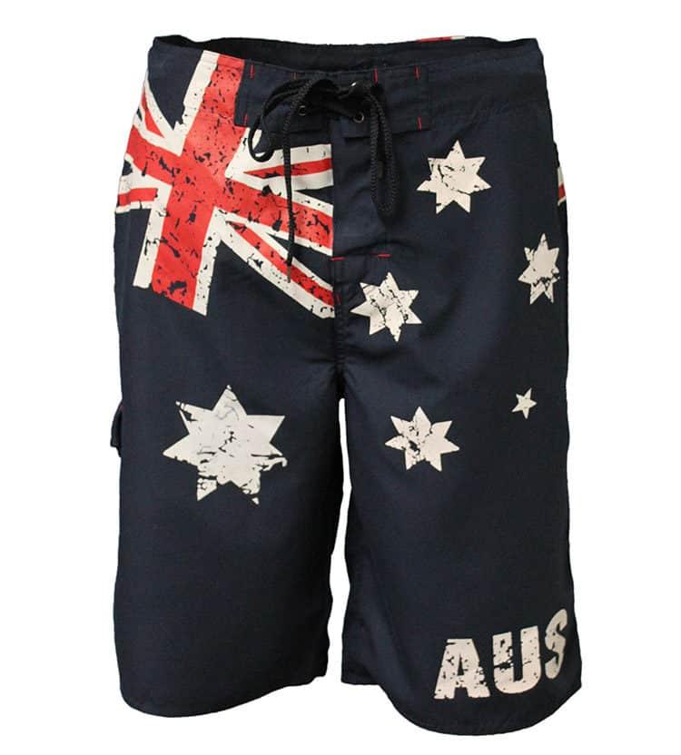 Mens Australia Flag Boardshorts Navy