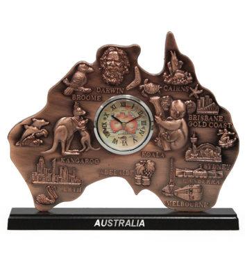 Australia Map Clock