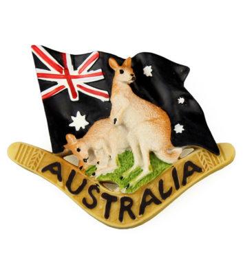 Kangaroo Boomerang Magnet