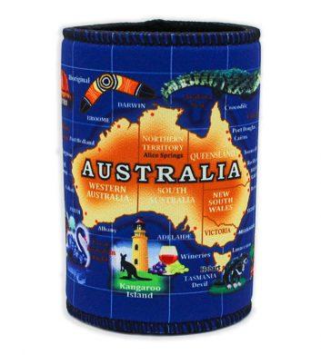 Australia Map Wetsuit Cooler