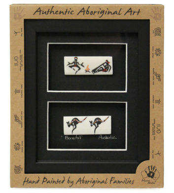 Aboriginal Framed Bone Art