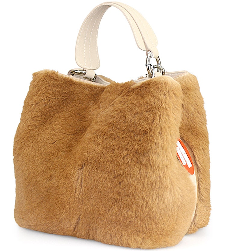 Kangaroo Fur Bucket Bag