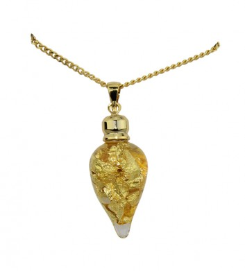 Gold & Glass Cone Shape Necklace