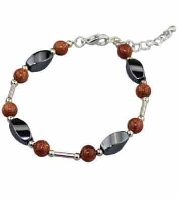 Iron Ore & Sunstone Bracelet