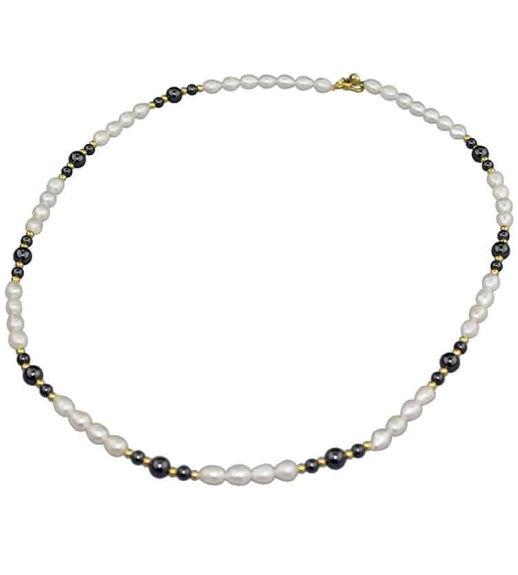 Iron Ore & Freshwater Pearl Necklace
