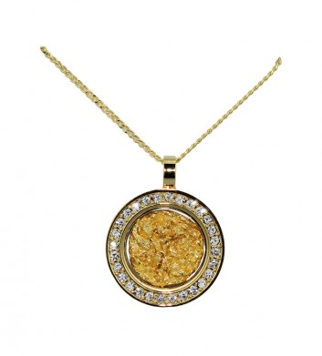 Gold & Glass Diamante Necklace
