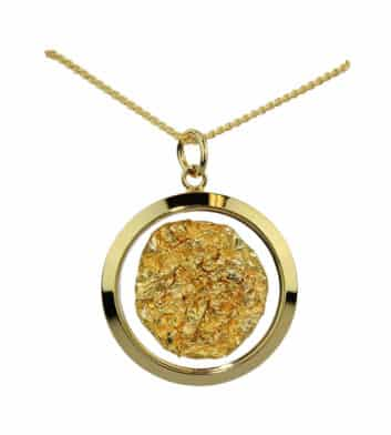 Gold & Glass Large Round Necklace