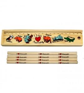 Wood Stationery Set