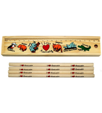 Wood Stationery Set