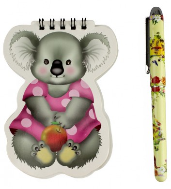 Koala Pen & Notebook