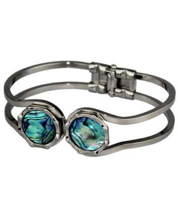 Palladium Paua Shell Bangle