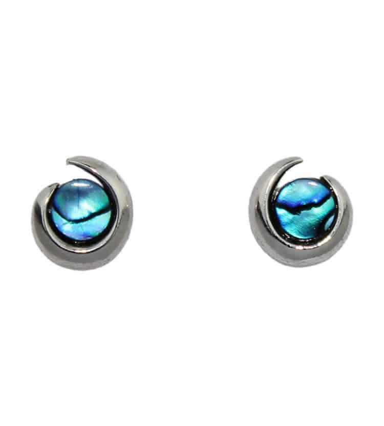 Paua Shell Stud Earrings=