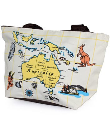 Ocean Map Small Bag