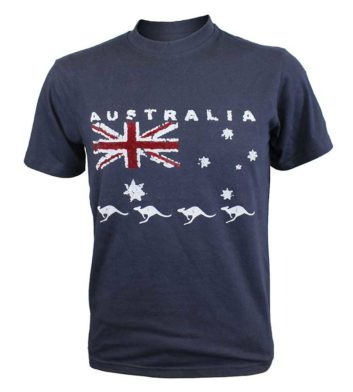 Navy Australia Flag T-shirt