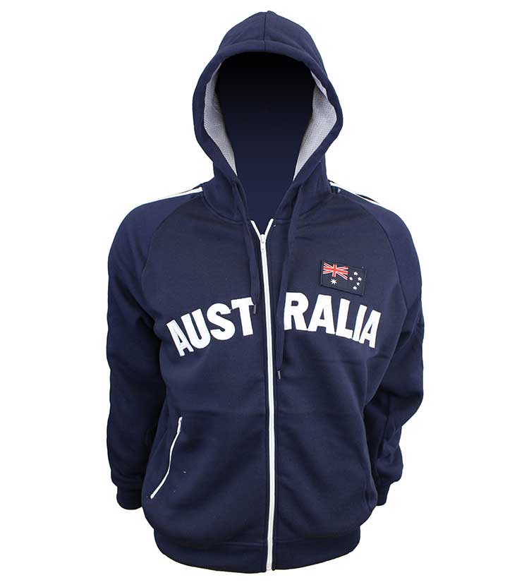 Australia Applique Hoodie Navy White Australia The Gift