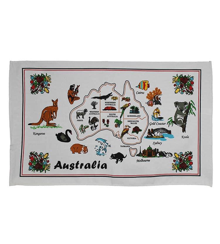 Aussie Animals Tea Towel