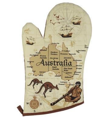 Australia Map Oven Mit