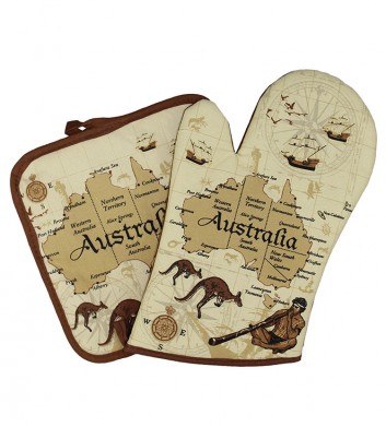 Australia Map Napery Set