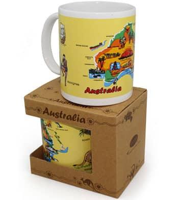 Australia Map Boxed Mug