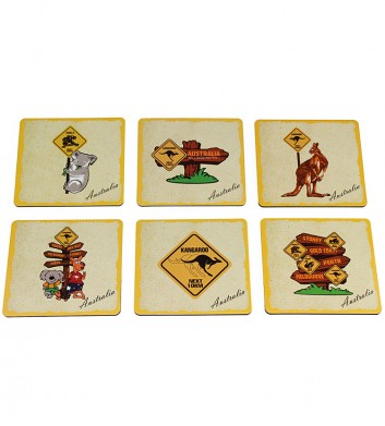 Australian Roadsign Coaster Set