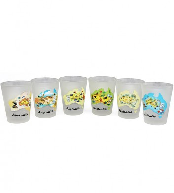 Australia Map Shotglasses