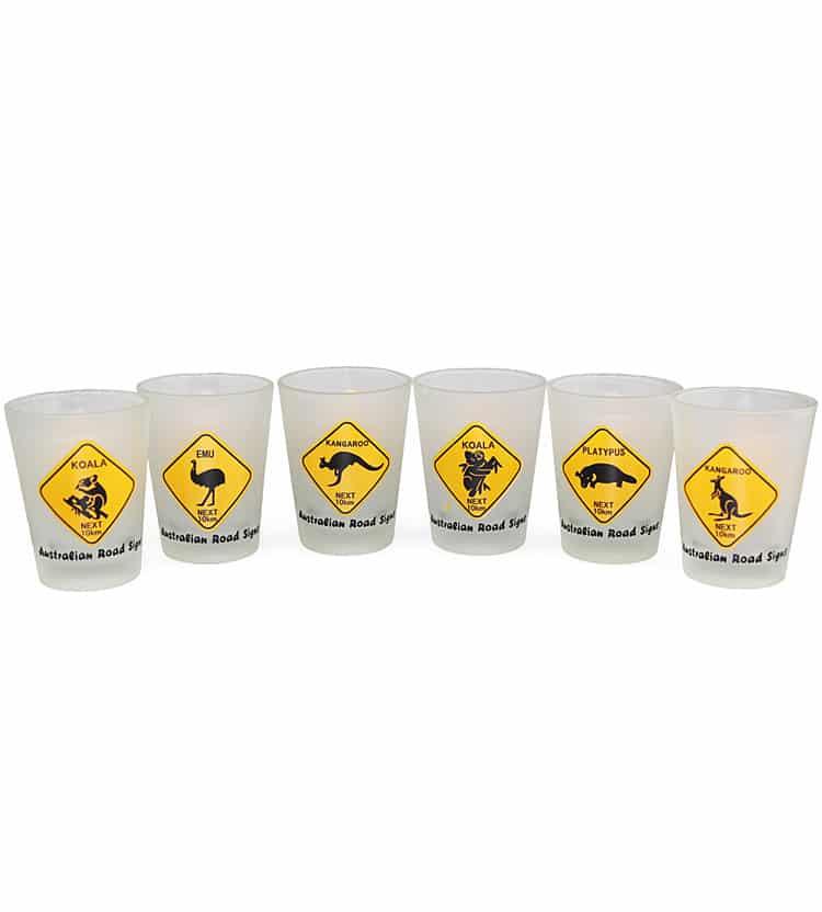 Australia Roadsigns Shotglasses