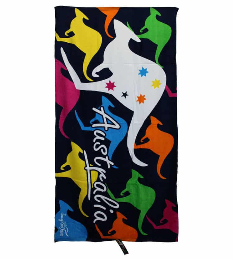 Colourful Kangaroo Towel