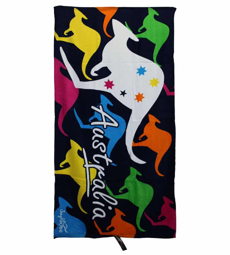 Gym Towel Adelaide: Colourful Kangaroo Towel