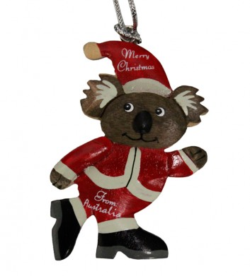 Koala Santa Christmas Ornament