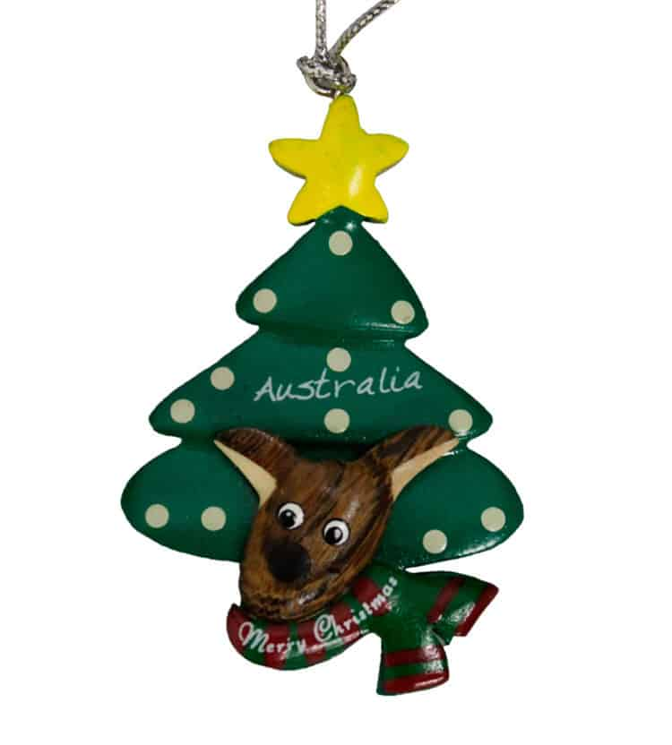 Kangaroo Tree Christmas Ornament