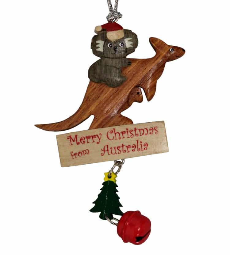 Koala & Kangaroo Christmas Ornament