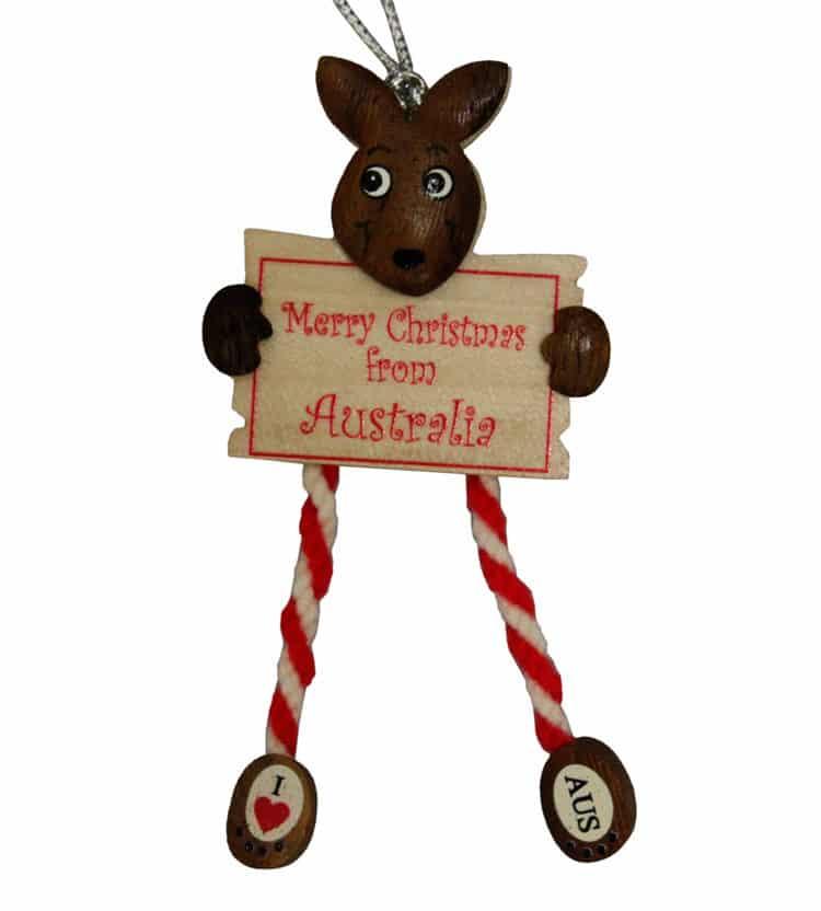 Kangaroo Sign Christmas Ornament