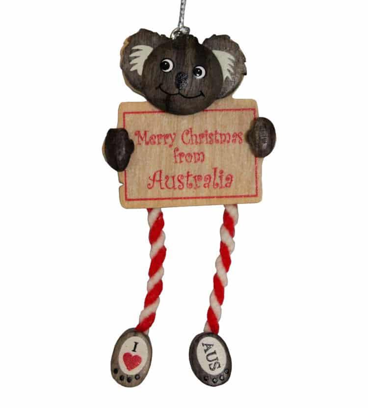 Koala Sign Christmas Ornament