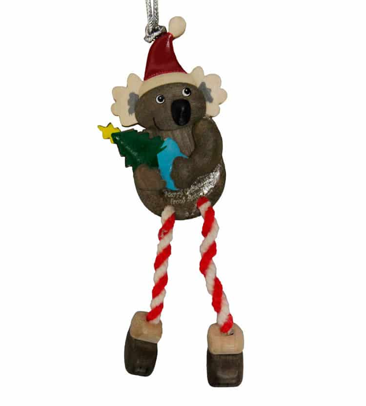 Koala With Tree Christmas Ornament