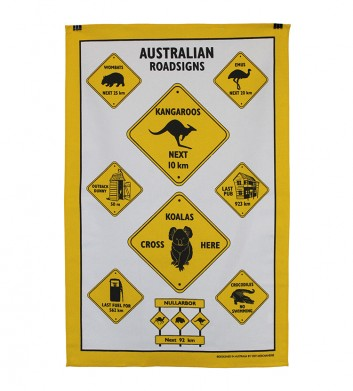 Roadsigns Tea Towel