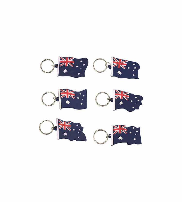 Australian Flag Keyring 6 Pack