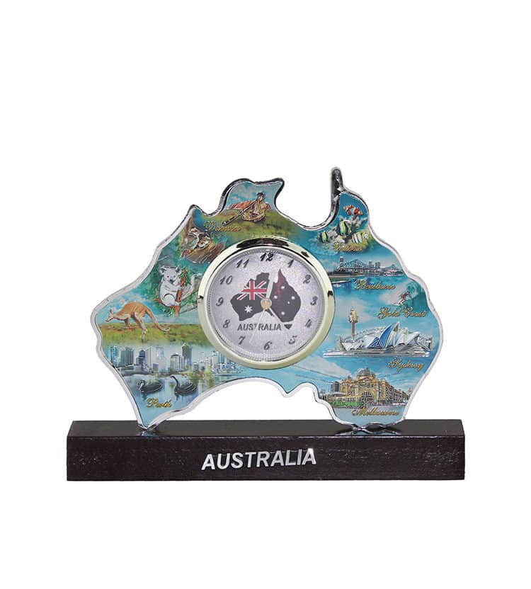 Australia Map Colour Clock
