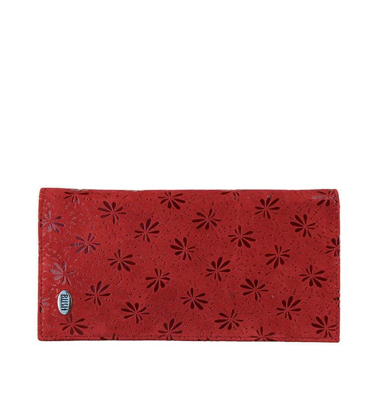 Kangaroo Leather Red Clutch
