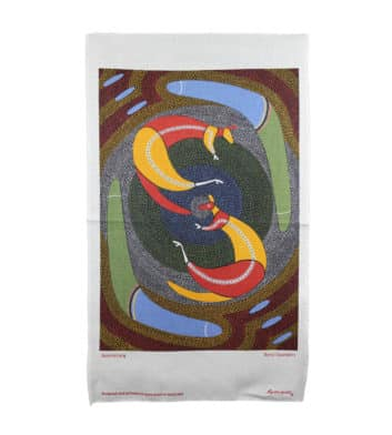 Kangaroo & Boomerangs Tea Towel