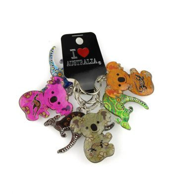 38420_Key-Rings-Kangaroo-Koala-6-Pack