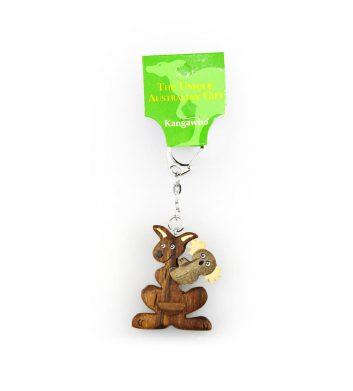 40501_Key-Ring-Cartoon-Kangaroo-Koala-Wood