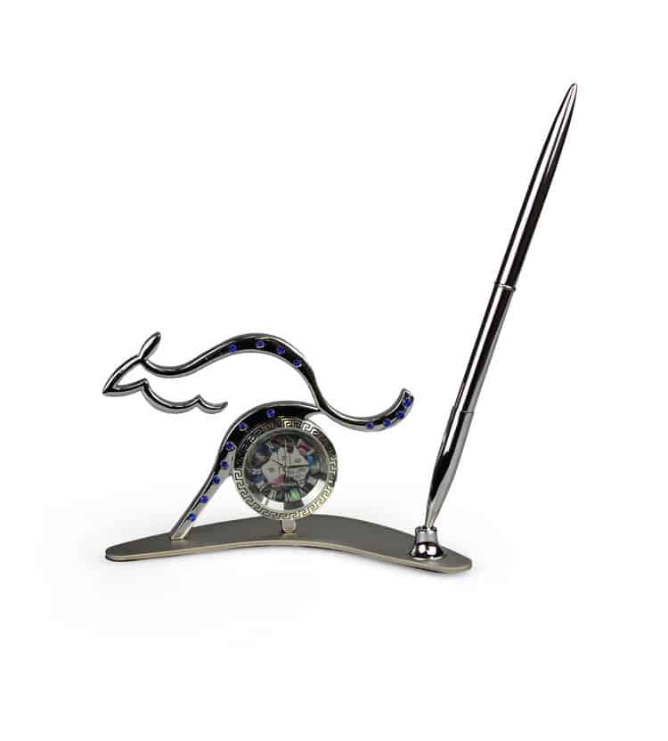 Kangaroo Clock & Pen Holder