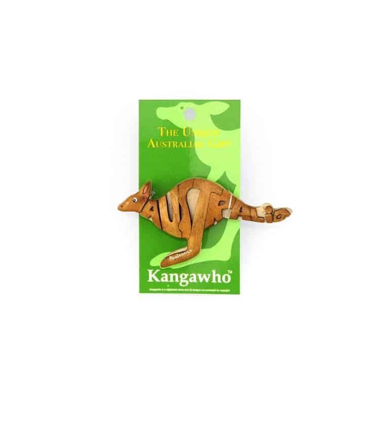Wooden Kangaroo Magnet
