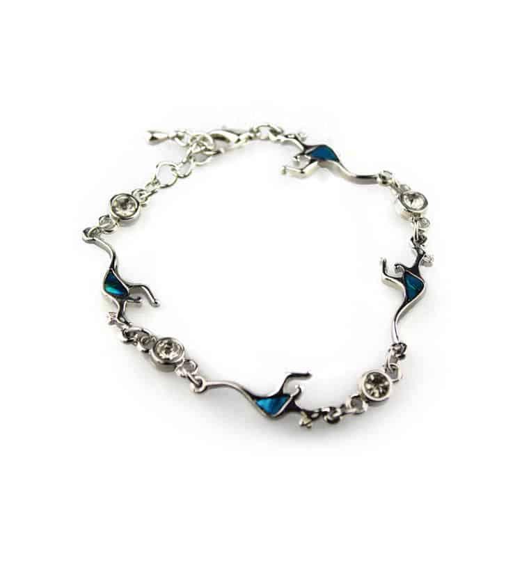 Paua Shell Kangaroo Bracelet